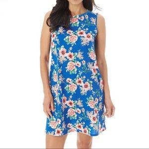 Apt 9 Sleeveless Floral Printed Swing Dress Size M